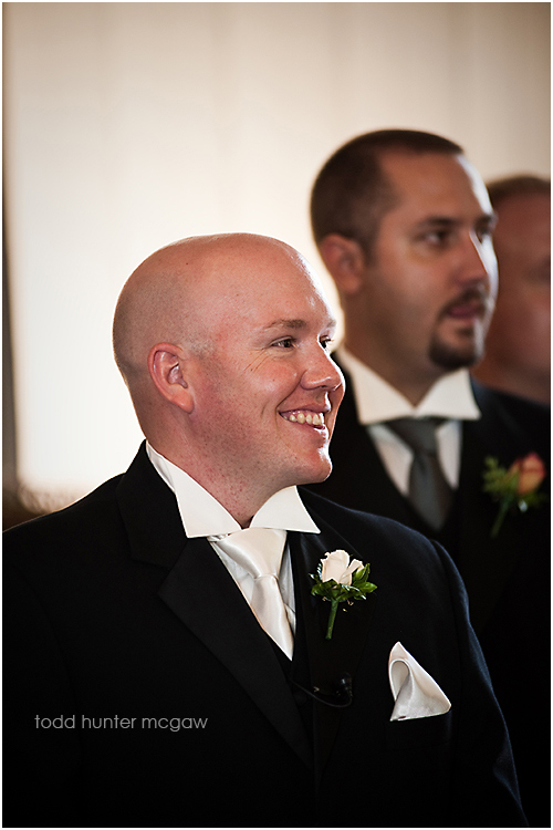 this is why we have 2 photographers....Matt's face when Bekk was walking down the aisle....would hate to miss this!